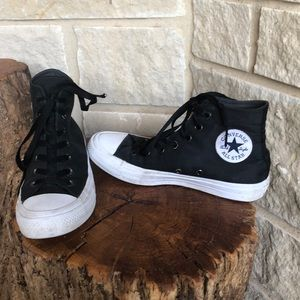 Converse Black Hightops